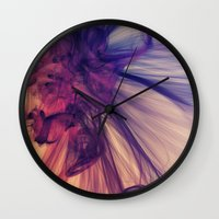 cosmos Wall Clocks featuring Cosmos by JR Schmidt