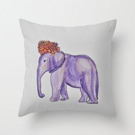 stylish elephant Throw Pillow