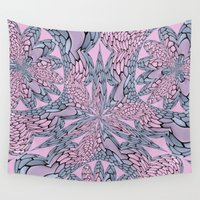 pantone Wall Tapestries featuring Flowery Texture - Pantone by Bella Mahri-PhotoArt By Tina