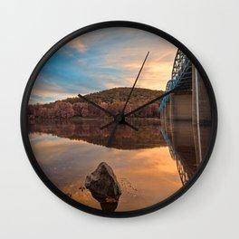 Point of Rocks Sunset - Pastel Fantasy Wall Clock