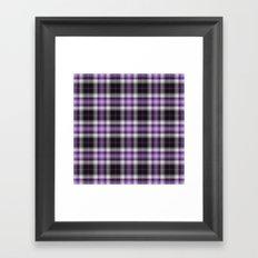 Purple Plaid Framed Art Print