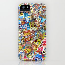 Cereal Boxes Collage iPhone Case