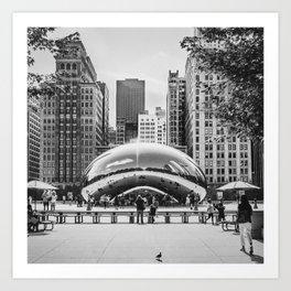 Chicago Cloud Gate / The Beam Art Print