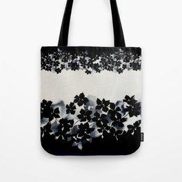 Black and White Confetti Stripe Tote Bag