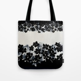 Black and White Confetti Stripe Tote Bag