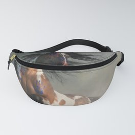 Pinto Warrior Horse in War Paint Fanny Pack