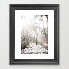On a cold winter morning Framed Art Print