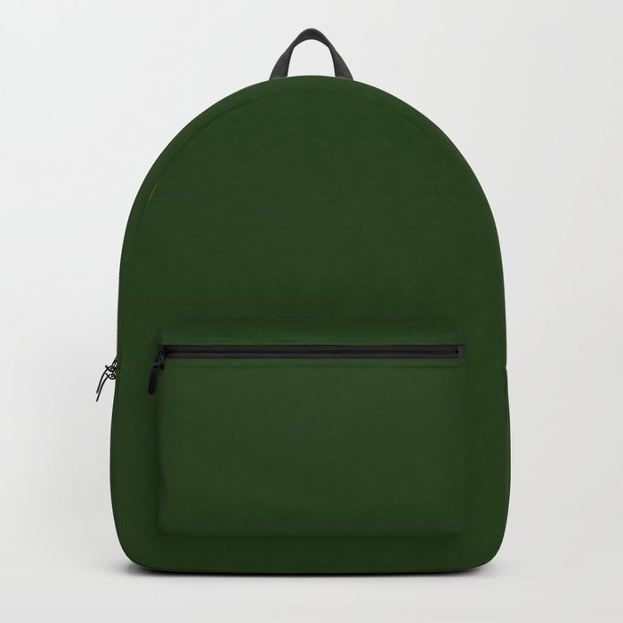 Solid Dark Forest Green Simple Solid Color All Over Print Rucksack
