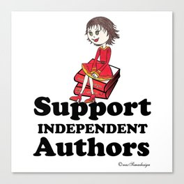 Support Independent Authors Canvas Print