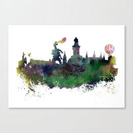 Cracow skyline Canvas Print
