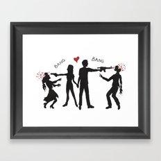 Zombie Hunting III Framed Art Print