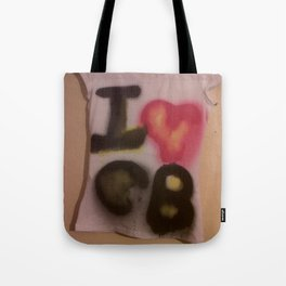 I Love C-B Spray Paint Logo Art Print. Tote Bag