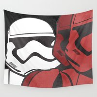 stormtrooper Wall Tapestries featuring Stormtrooper by Sharayah Mitchell