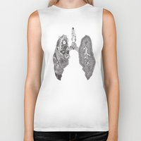 lungs Biker Tanks featuring Lungs by Alexander.Leake