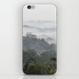 Borobudur view - foggy sunrise iPhone Skin