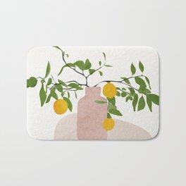Lemon Branches Bath Mat