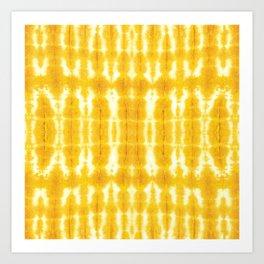 Yellow Linen Shibori Stripe Art Print