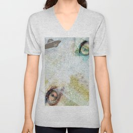 UFO there! Angelina! UFO there! Unisex V-Neck