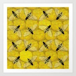Bee 2 (pattern) Art Print