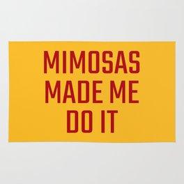 Mimosas Made Me Do It (Yellow & Crimson) Rug