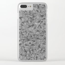 Abstract Pattern – Black Clear iPhone Case