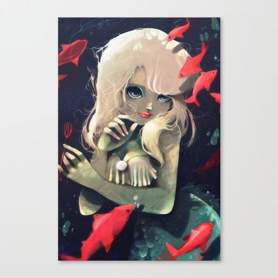 Sirene d'eau douce a la fourchette Canvas Print