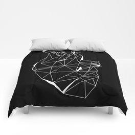 Heart Black Comforters