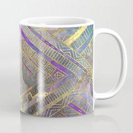 Tribal  Ethnic Boho Pattern gold and gentle purples Coffee Mug
