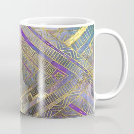 Tribal  Ethnic Boho Pattern gold and gentle purples Coffee Mug
