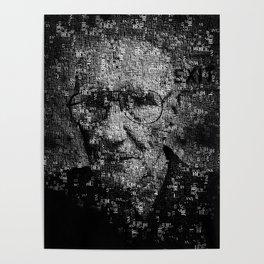 William S. Burroughs Typographical Portrait Poster