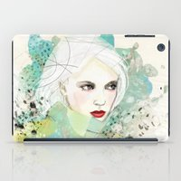fashion illustration iPad Cases featuring FASHION ILLUSTRATION 10 by Justyna Kucharska