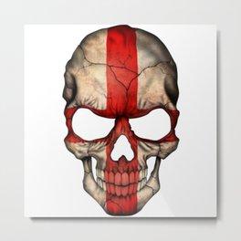 Exclusive England skull design Metal Print