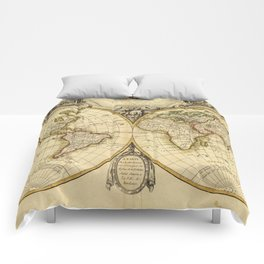 Old Fashioned World Map (1782) Comforters