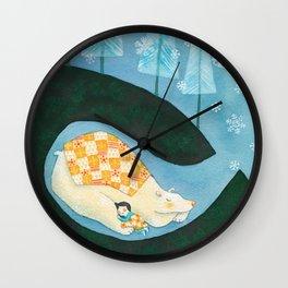 Hibernating Together Wall Clock