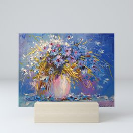 Bouquet of cornflowers Mini Art Print