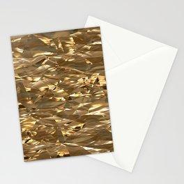 Golden Crinkle Stationery Cards