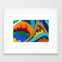 voyage Framed Art Prints featuring Voyage by Stefferson Vector