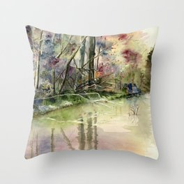 The End Of Wonderful Day Throw Pillow