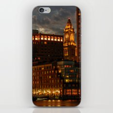 Night at Boston Harbor iPhone & iPod Skin