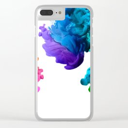 color boom Clear iPhone Case