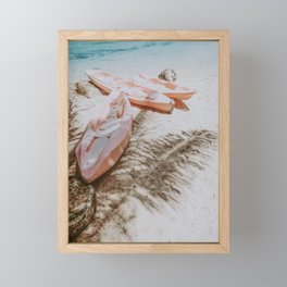 little boats Framed Mini Art Print