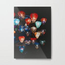 Lanterns in the Night Market, Hoi An, Vietnam 2 Metal Print