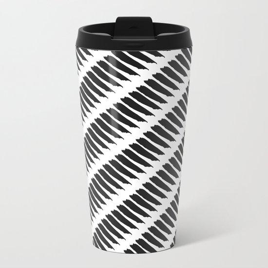 Black and white tiger stripes metal travel mug by pencil - Tiger stripes black and white ...
