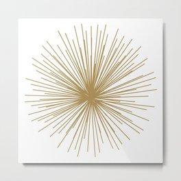 Gold Sputnik Orb Metal Print