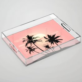 Tropical Summer Sunset Acrylic Tray