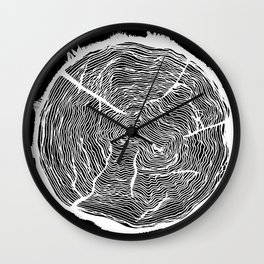 Growing Old - Tree Rings Wall Clock