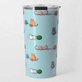 Cats at play Travel Mug