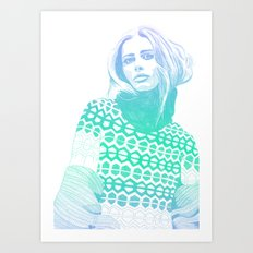 Winter Blue Art Print