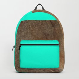 wood and green Backpack