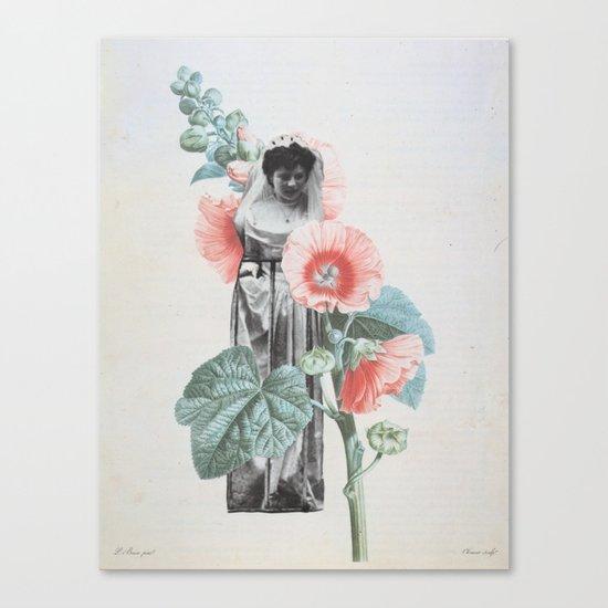 Botanical Bride Canvas Print